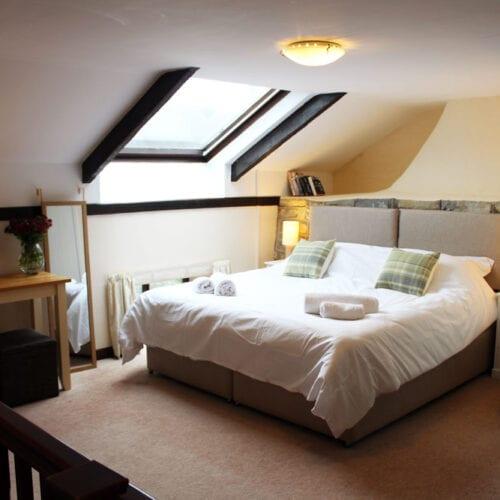 Comfortable bedroom for romantic getaway in Somerset