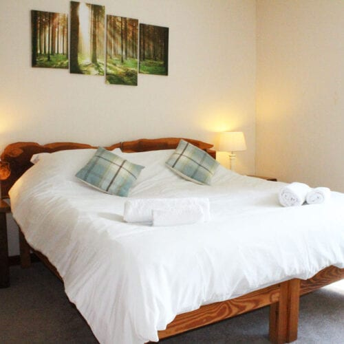 Spacious bedroom at Thorney Country Cottages