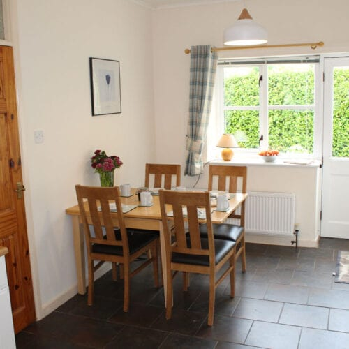 Space for meals together at Thorney Country Cottages