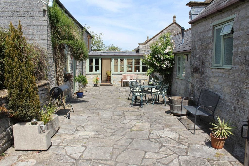 Courtyard at Thorney Country Cottages | Place to stay in Somerset