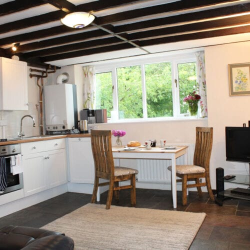 Kitchen table for two in Somerset Cottage
